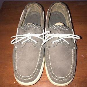 Sperry Top-Sider Gray Polka Dot Boat Shoes